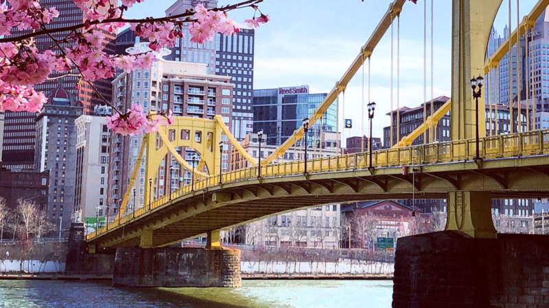 Pittsburgh North Shore bridge