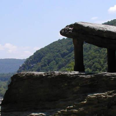 Jefferson Rock on the Appalachian Trail