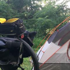 Tent at Roundbottom Hiker-Biker Campground