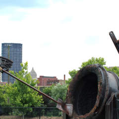 Ironworker Sculptures on Three Rivers Heritage Trail