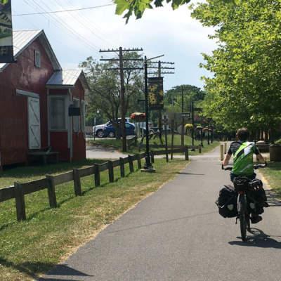 Cyclists on Western Maryland Rail Trail
