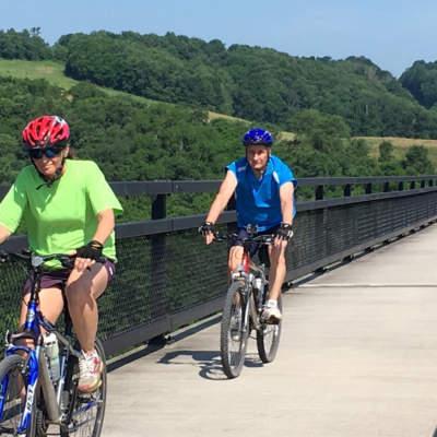 Cyclists on Salisbury Viaduct