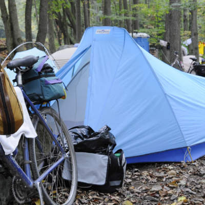 Tents in Husky Haven Campground