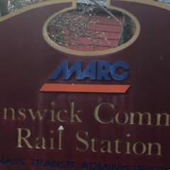 Maryland Area Regional Commuter (MARC) train parking in Brunswick