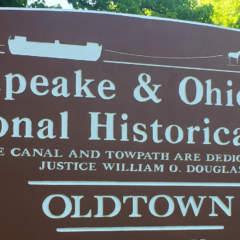 C&O Canal National Historical Park sign for Oldtown