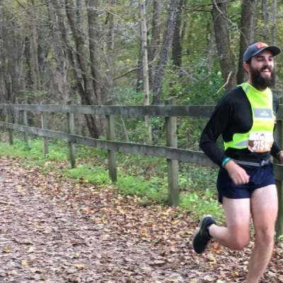 Runner on trail during GAP Relay