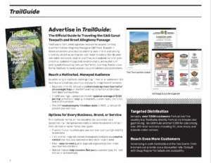 Reasons to advertise in TrailGuide