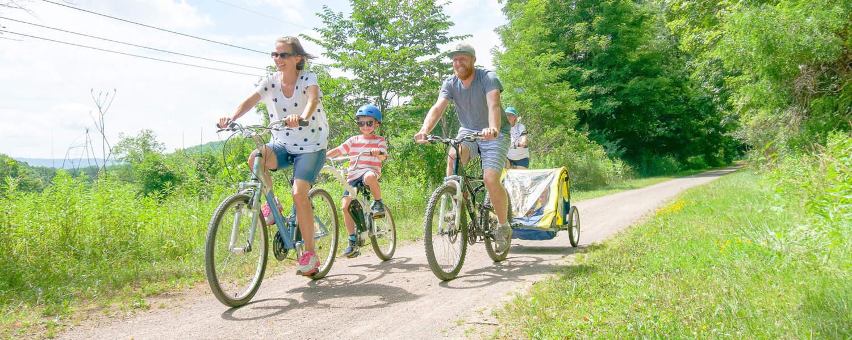 Family Biking at Deal